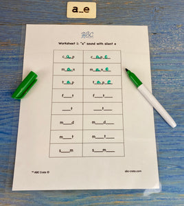 "Phonograms Kit 1: ""a"" sounds,  a, ae, ey, ay, a with silent e, ei, and eigh"