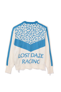 Leopard Racing Cashmere Sweater