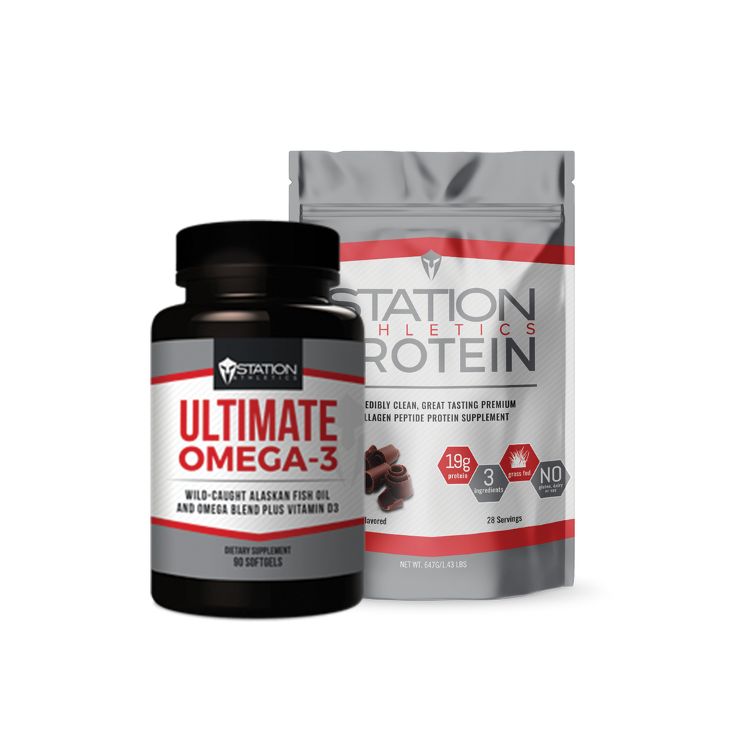 PRO Station Athletics Chocolate Protein + Omega-3