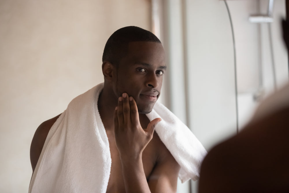 Man with clean face