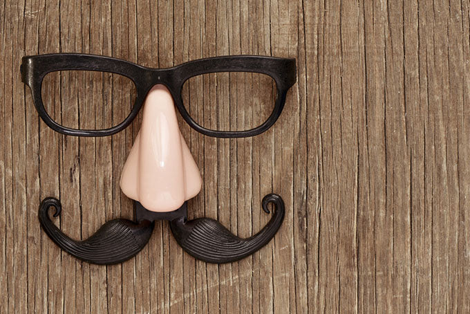 fake mustache nose and eyeglasses