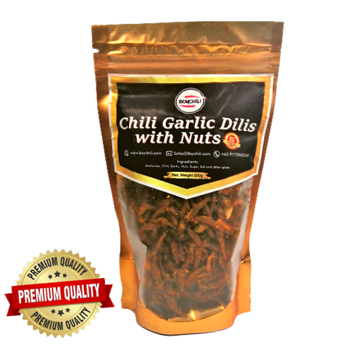 Chili Garlic Dilis with Nuts 120g