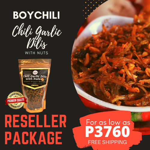 Chili Garlic Dilis 120g Reseller Package
