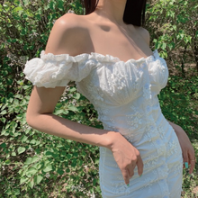 Load image into Gallery viewer, Alessandra White Milkmaid Dress