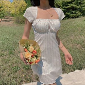 Sadie White Milkmaid Dress