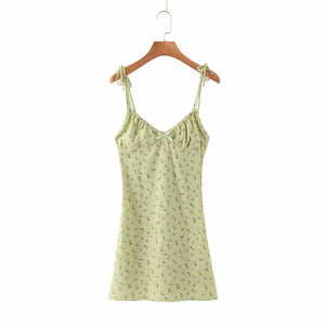 Emmie Green Floral Dress