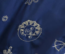 Load image into Gallery viewer, Zodiac Embroidery Satin Dress