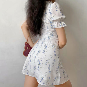 Francesca White Floral Dress