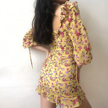 Load image into Gallery viewer, Brynlee Yellow Floral Dress