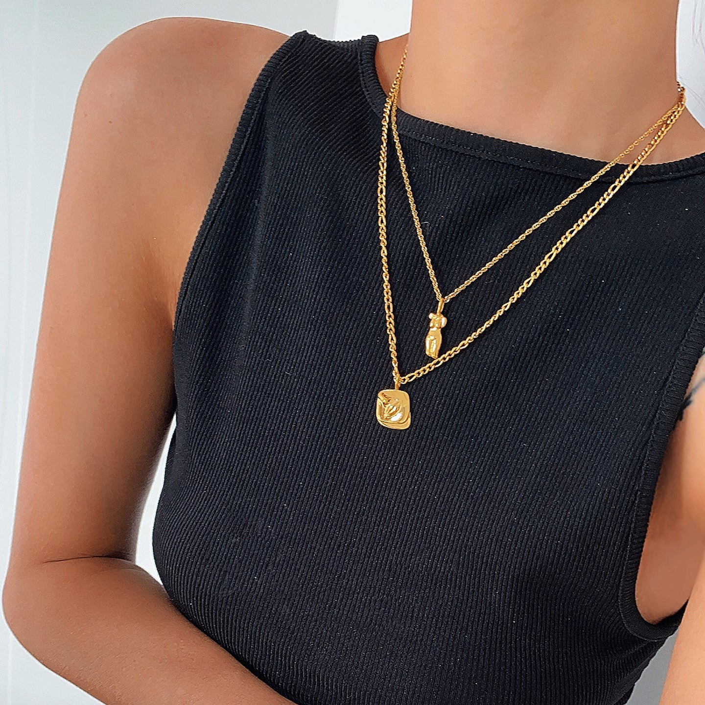 18k Gold Plated Female Body Necklace
