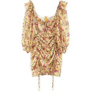 Brynlee Yellow Floral Dress