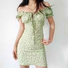Load image into Gallery viewer, Leona Green Floral Dress