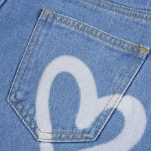 Load image into Gallery viewer, Heart Printed Y2K Straight Jeans