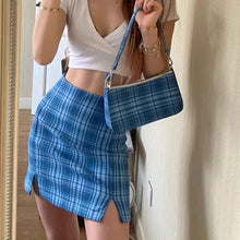 Load image into Gallery viewer, 90s Retro Plaid Shoulder Bag