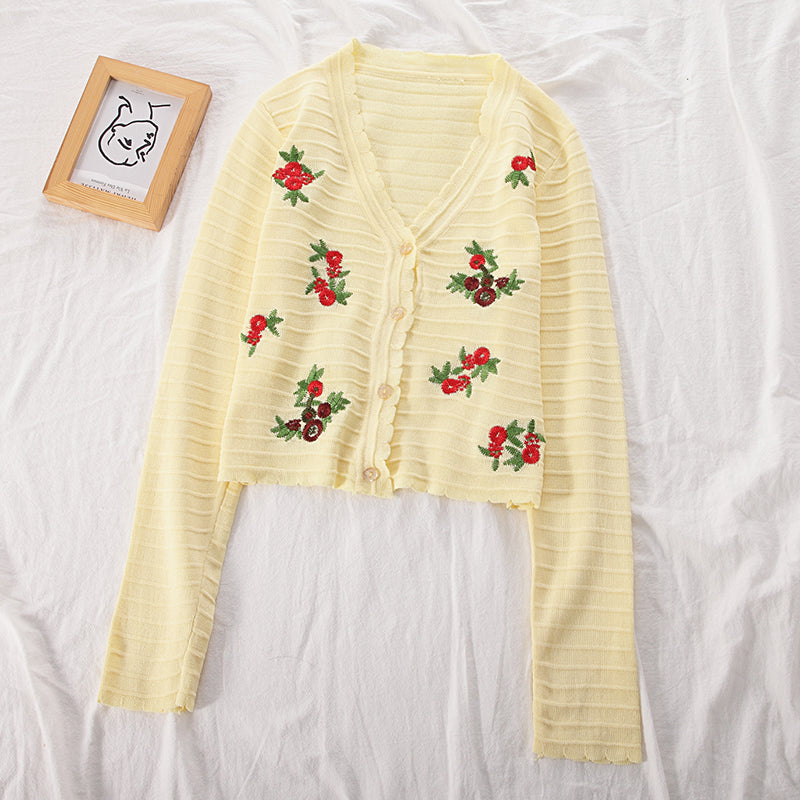 Vera Floral Embroidery Cardigan