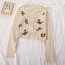Load image into Gallery viewer, Vera Floral Embroidery Cardigan