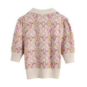 Talia Jacquard Knitted Top