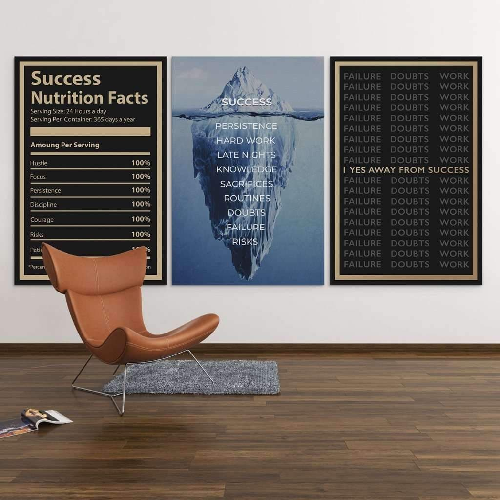 Office/Coworking with Motivational Quotes Canvas decor- Wall Art Canvas Motivational Quotes – by www.Motiv-art.com