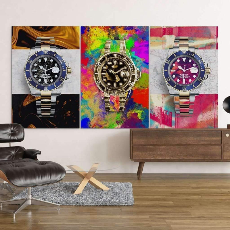 Bundle of Rolex Canvases at the office, Money Wall art, Culture and Pop art, Motivational Canvas - Motiv-Art.com