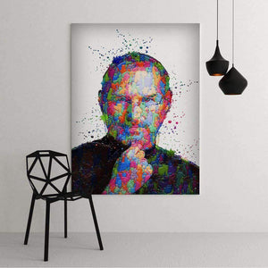 Office with Steve Jobs's canvas - Abstract art Motivational Canvas For Office and Coworking - Wall Art Canvas Motivational Quotes – by www.Motiv-art.com