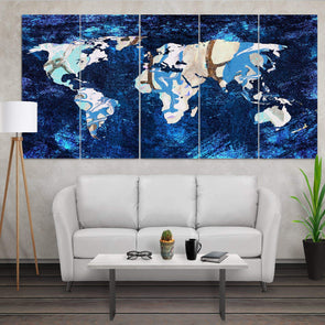 World Map Canvas street art