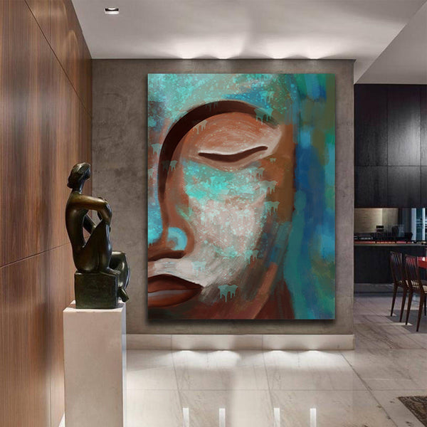 Abstract Buddha face