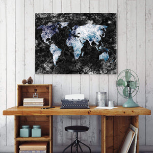 World map water