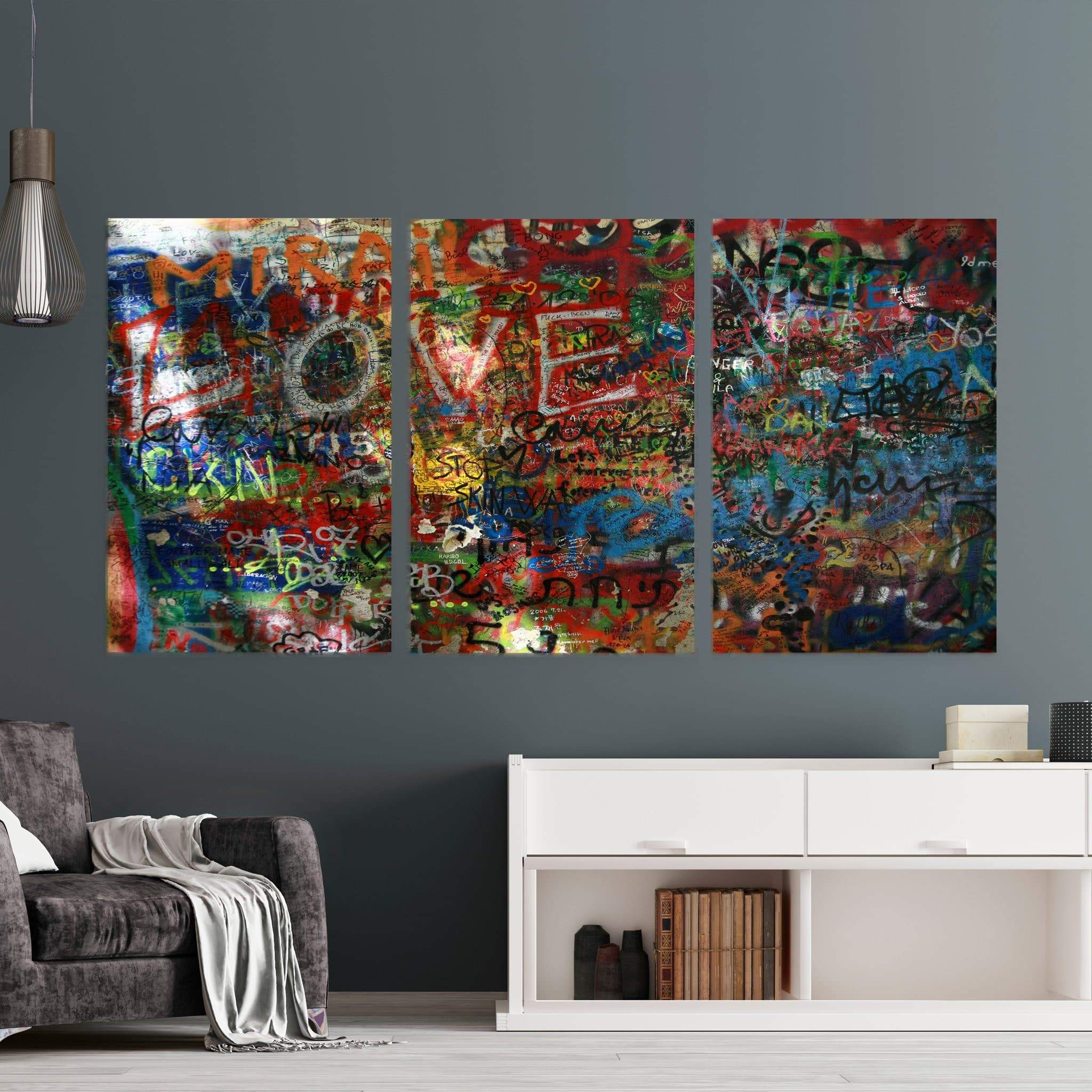 The Lennon Wall Canvas Wall Art