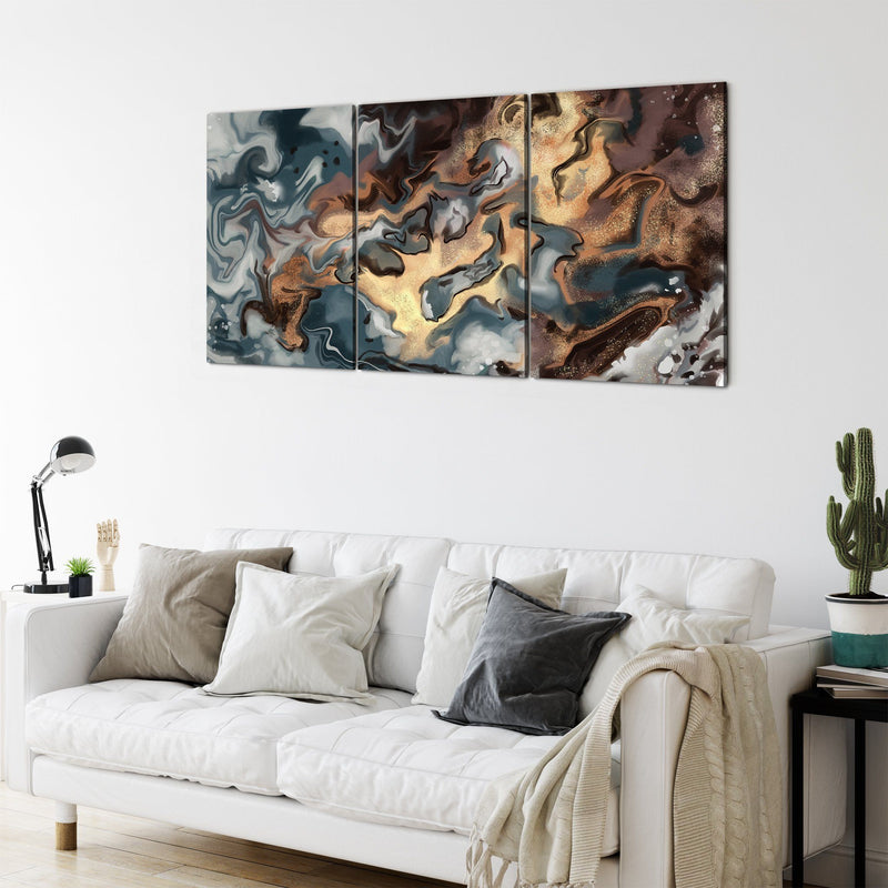 Gold and Bronze Multi Panel Wall Art