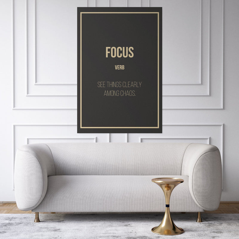 Focus - definition entrepreneur hanging in a living room
