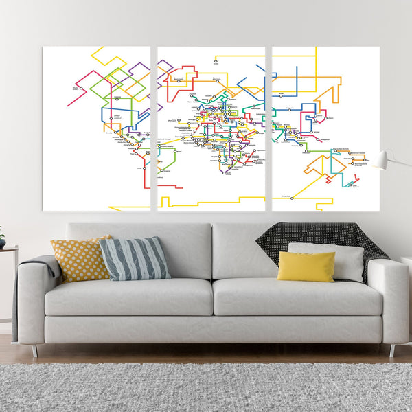 World map tube
