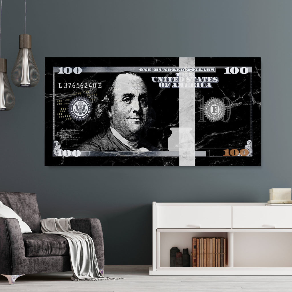 Benjamin Franklin Black Marble
