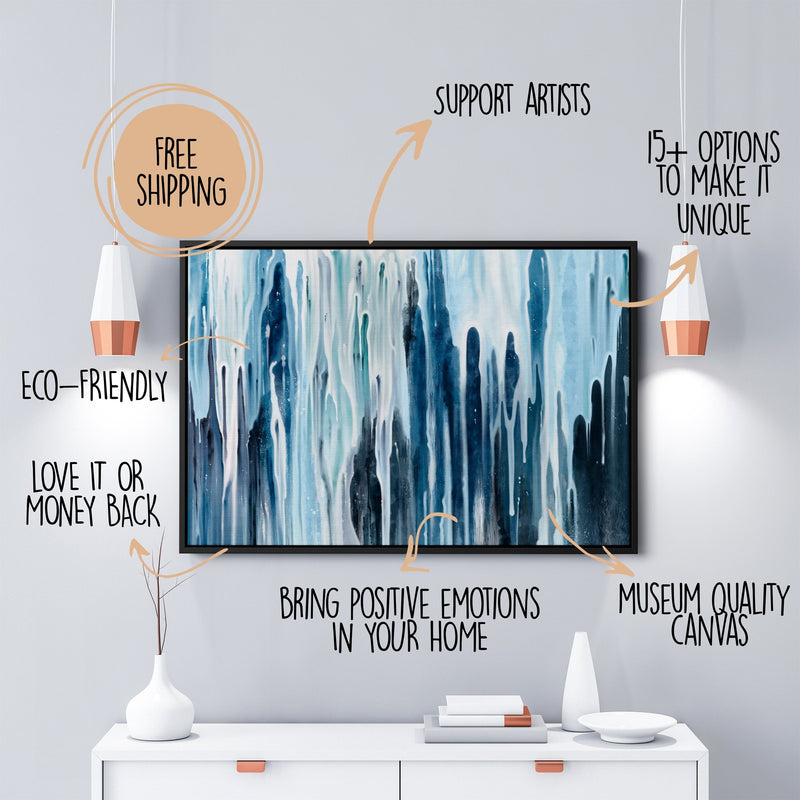 Multi Panels Waterfall Wall Art