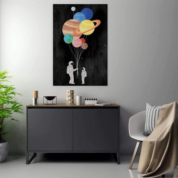 Space art - decor for kid's room-  Space Canvas Wall Art / Space Art Framed print / Framed Pop art/Culture art/Ready to hang by Motiv-Art