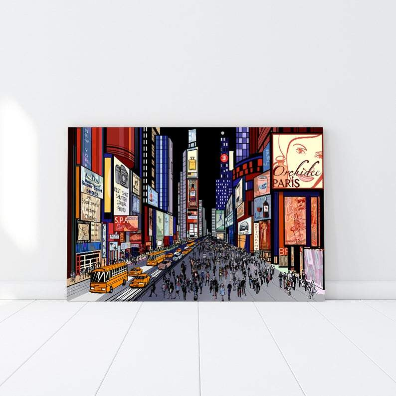 New York Illustration long avenue