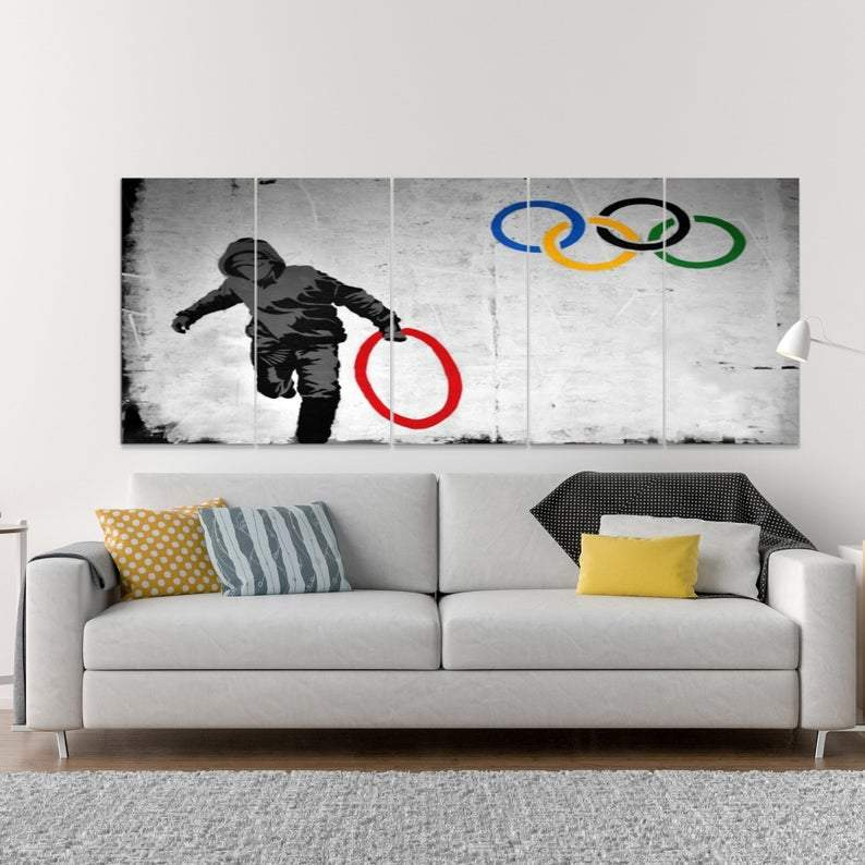 Olympic Ring Wall Art Canvas