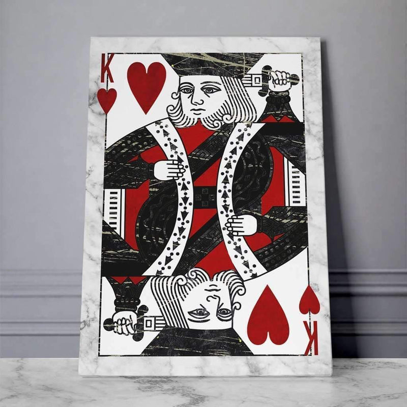 King of Heart Motivational Canvas For Office, coworking, Home  - Wall Art Canvas Motivational Quotes – by www.Motiv-art.com