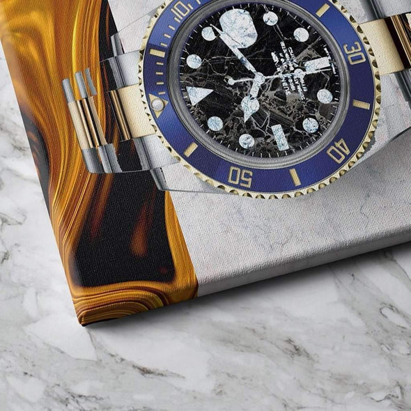 close look at Rolex Canvas, Money Wall art, Culture and Pop art, Motivational Canvas - Motiv-Art.com