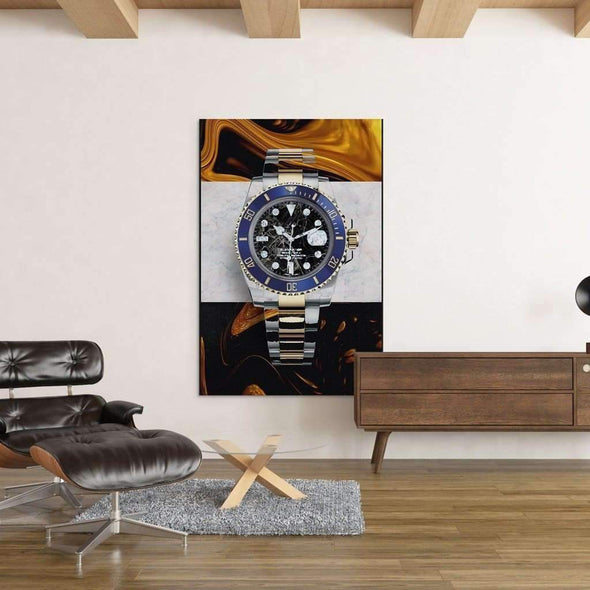 "Office with luxury ""Rolex"" Canvas, Money Wall art, Culture and Pop art, Motivational Canvas - Motiv-Art.com"