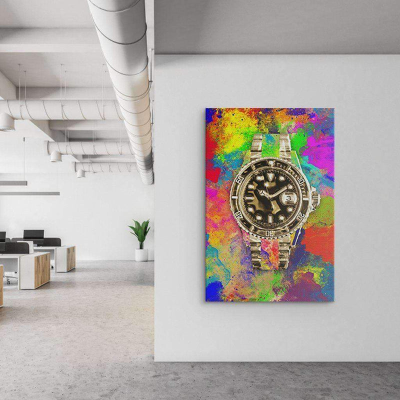 Office with Rolex's canvas - Money Inspired Motivational Canvas For Office and Coworking - Wall Art Canvas Motivational Quotes – by www.Motiv-art.com