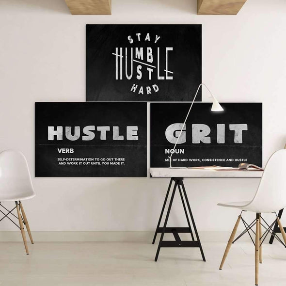 Bundle of Motivational Canvas with Quotes at the office, Money Wall art, Culture and Pop art, Motivational Canvas - Motiv-Art.com