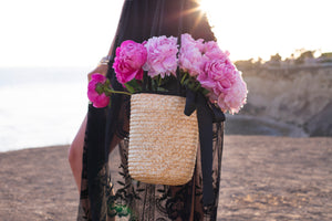 Inai straw bucket bag