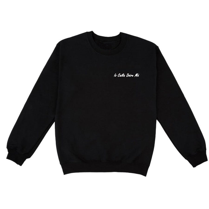 Is Cailín Doire Mé: Black Sweatshirt - Beanantees feminist clothing and gifs - Irish language