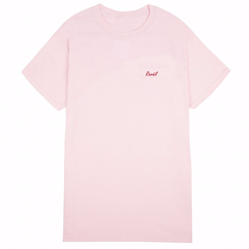 Raváil: Pink Organic Cotton Tee - Beanantees feminist clothing and gifs - Irish language