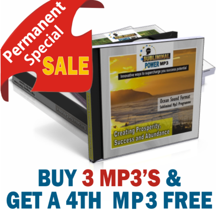 Buy 3 Subliminal Mp3 and get a 4th Free