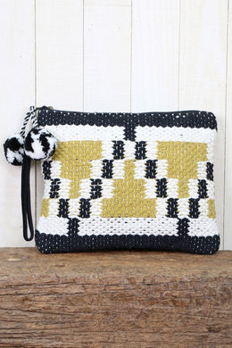 Love Stitch Hand Loomed Clutch