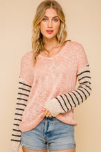 Color Block For the Love of Pink Sweater - Cactus Lounge Boutique