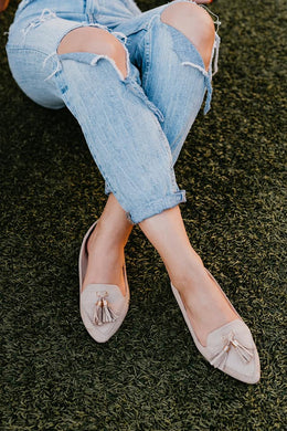 Biscotti Taupe Loafer Flat Shoe - Cactus Lounge Boutique