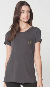 Smile Pocket Crew Tee - Cactus Lounge Boutique