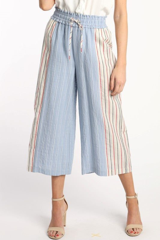 French Riviera Wide Leg Crop Pant